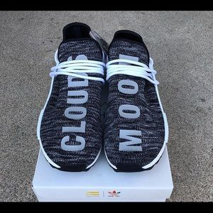 "5bc4132f6435f adidas Shoes - Human Race NMDs Oreo Trail ""Cloud Moon"" Size 10"